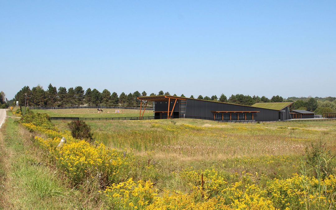 EQUESTRIAN RIDING ARENA & STABLE